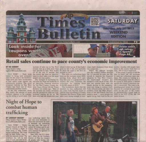 Media Scan for Van Wert Times Bulletin