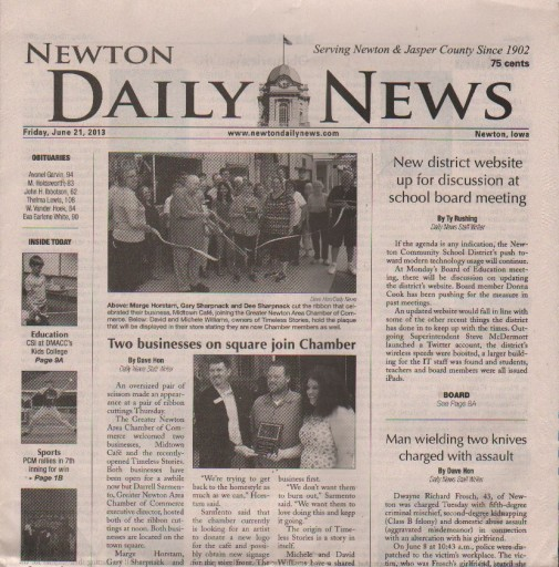 Media Scan for Newton Daily News