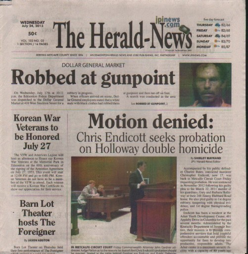 Media Scan for Edmonton Metcalfe County Herald-News