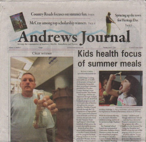 Media Scan for Andrews Journal