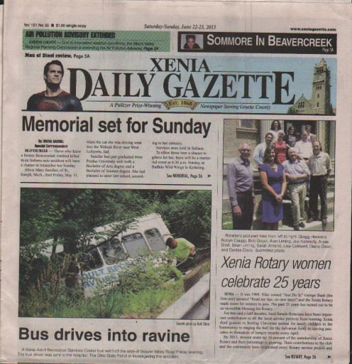 Media Scan for Xenia Daily Gazette & Fairborn Daily Herald