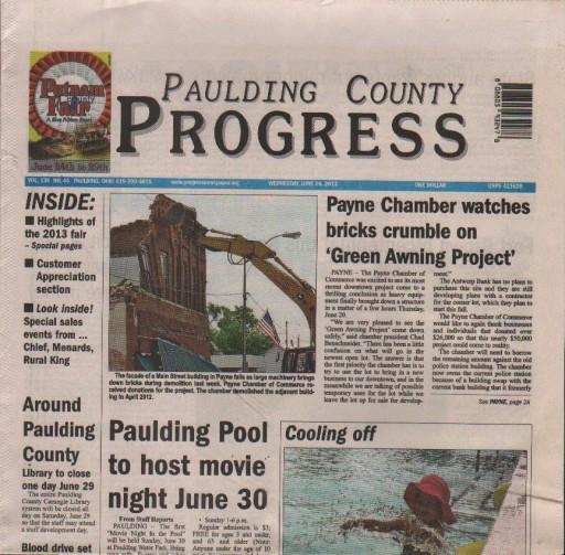 Media Scan for Paulding County Progress