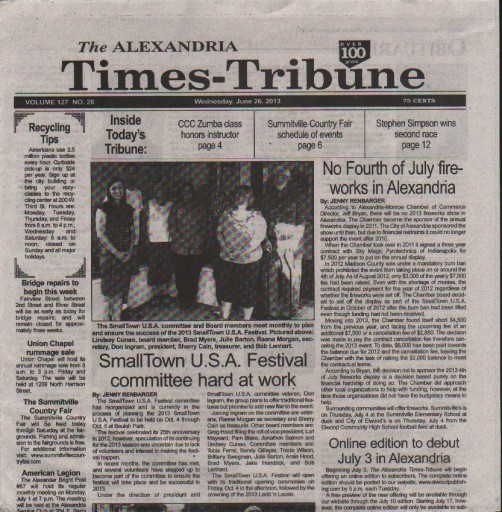 Media Scan for Alexandria Times-Tribune