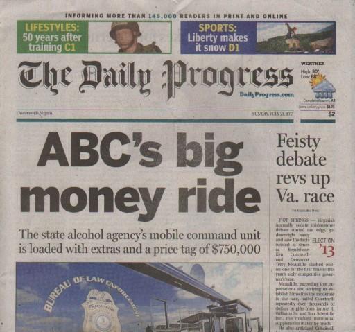 Media Scan for Charlottesville Daily Progress