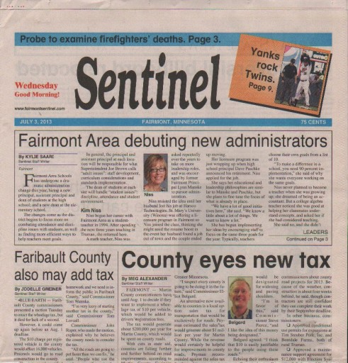 Media Scan for Fairmont Sentinel