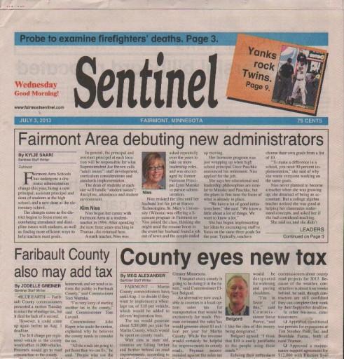 Media Scan for Fairmont Sentinel