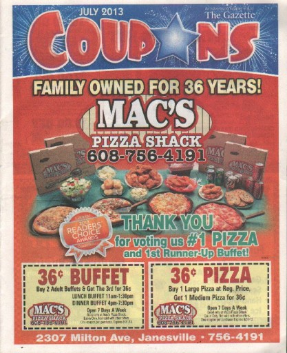 Media Scan for Janesville Gazette- Amazing Coupons