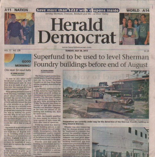 Media Scan for Sherman & Denison Herald Democrat
