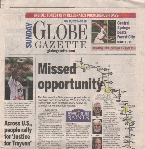 Media Scan for Mason City Globe Gazette