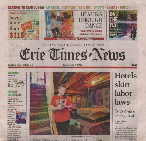 Media Scan for Erie Times-News