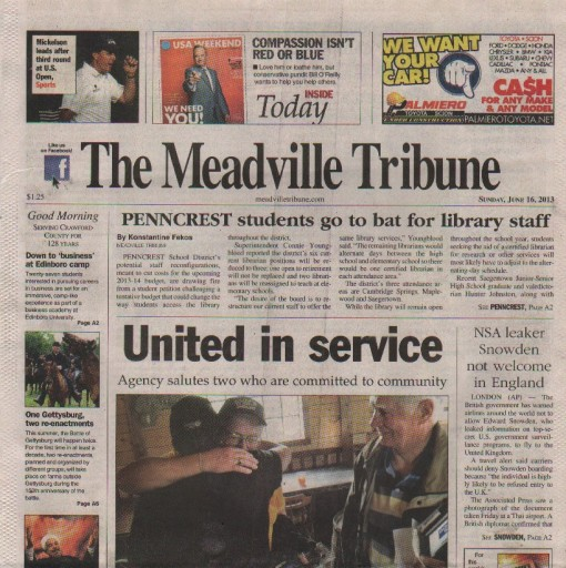 Media Scan for Meadville Tribune