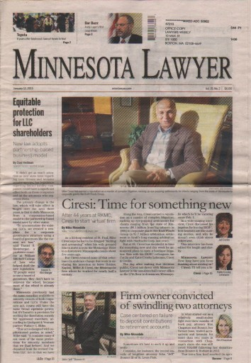 Media Scan for Minnesota lawyer