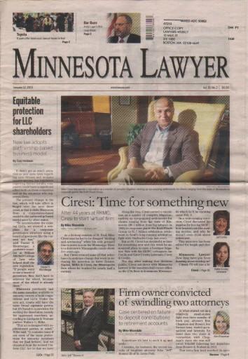 Media Scan for Minnesota lawyer