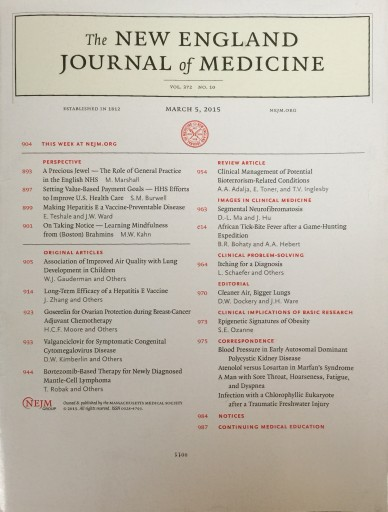 Media Scan for New England Journal of Medicine