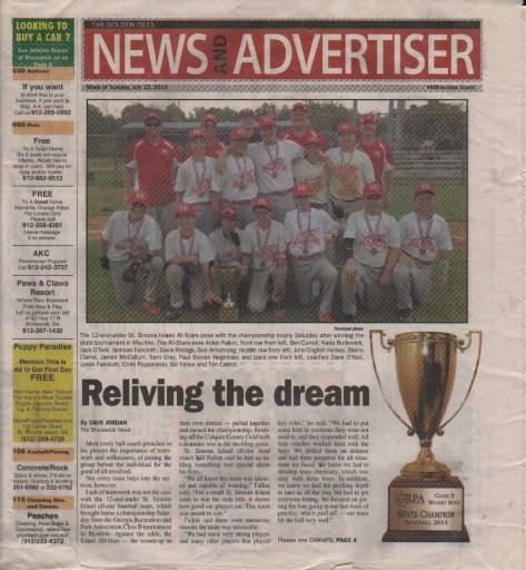 Media Scan for Brunswick News - Golden Isle News & Advertiser T