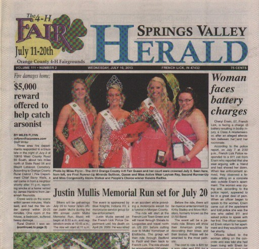 Media Scan for Springs Valley Herald