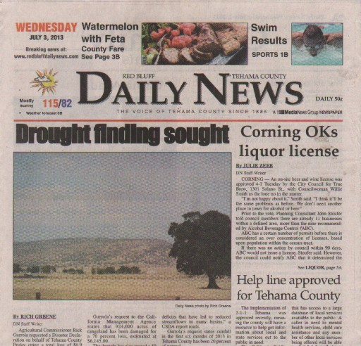 Media Scan for Red Bluff Daily News