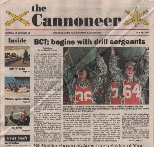 Media Scan for Ft. Sill Cannoneer