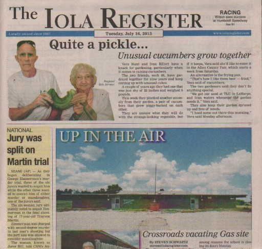 Media Scan for Iola KS Register