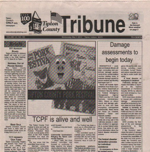 Media Scan for Tipton County Tribune