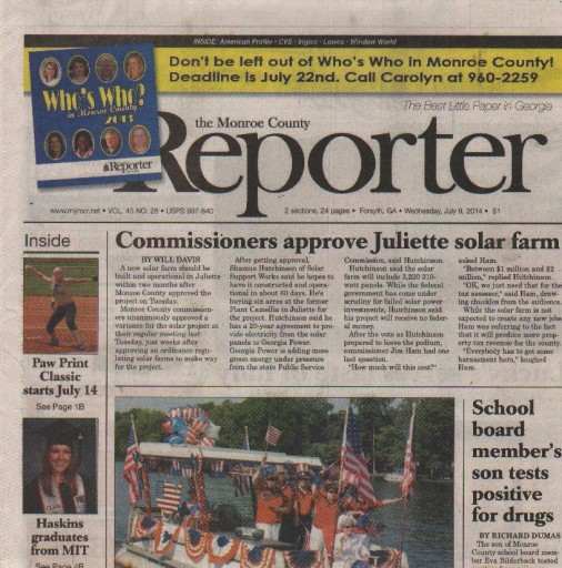 Media Scan for Forsyth Monroe County Reporter