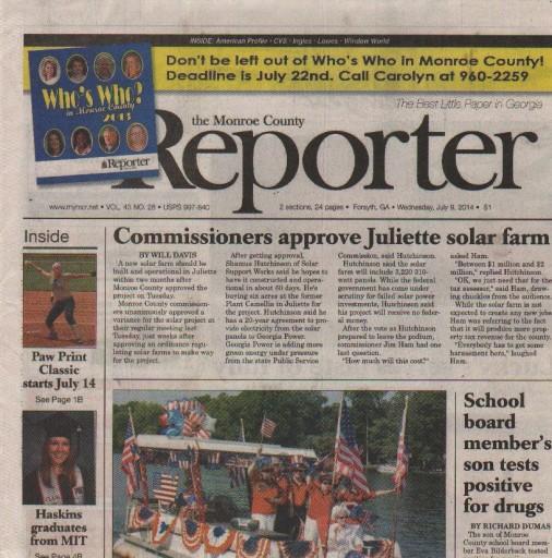 Media Scan for Forsyth Monroe County Reporter