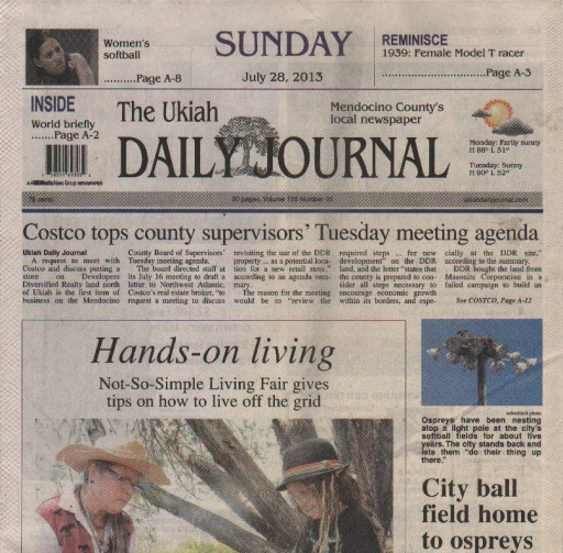 Media Scan for Ukiah Daily Journal