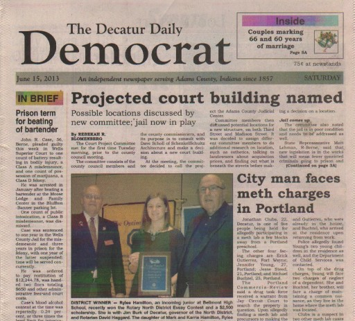 Media Scan for Decatur Daily Democrat - IN