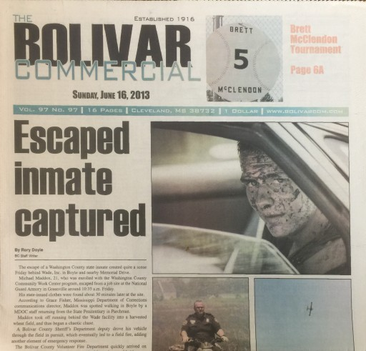 Media Scan for Cleveland (MS) Bolivar Commercial