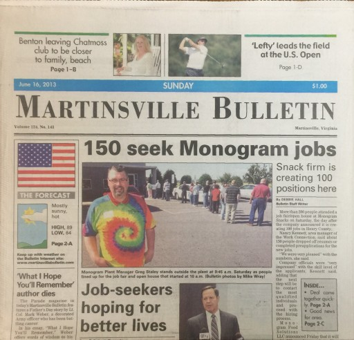 Media Scan for Martinsville Bulletin