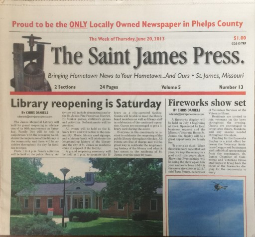 Media Scan for Saint James Press