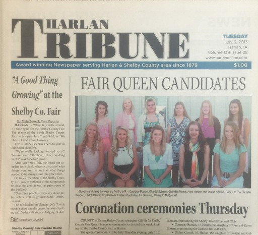 Media Scan for Harlan Tribune