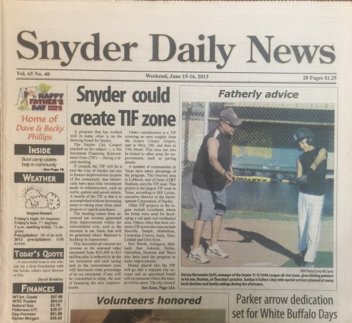 Media Scan for Snyder Daily News