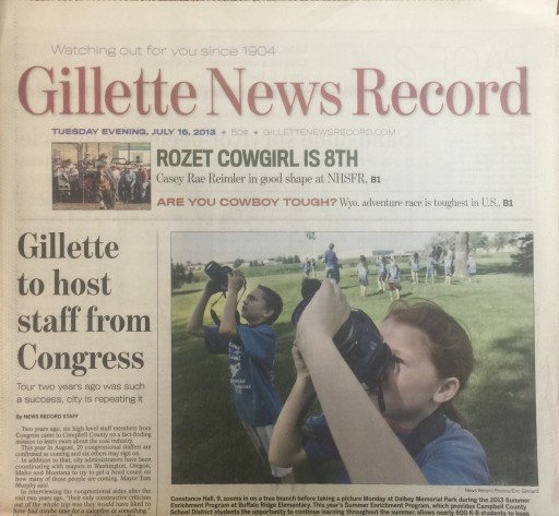 Media Scan for Gillette News Record