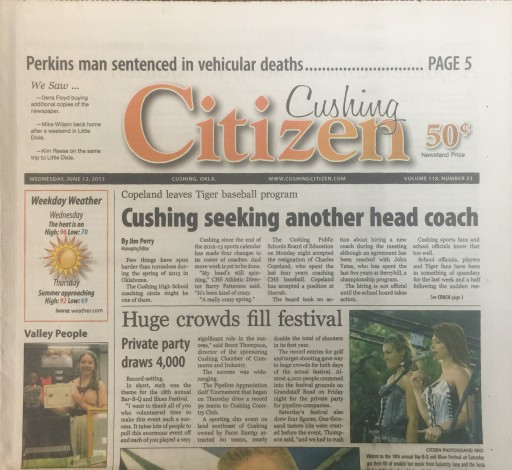 Media Scan for Cushing Daily Citizen