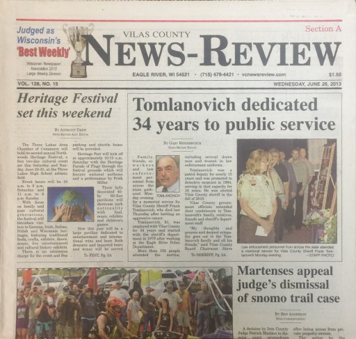 Media Scan for Vilas County News-Review