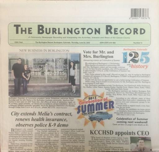 Media Scan for Burlington Record