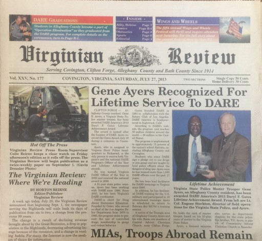 Media Scan for Covington Virginian Review