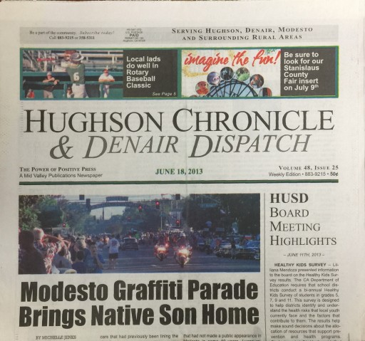 Media Scan for Hughson Chronicle