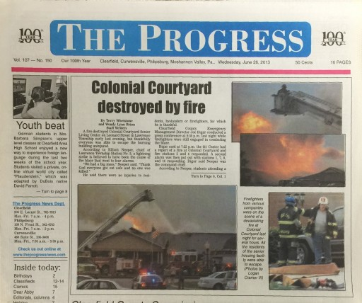 Media Scan for Clearfield Progress