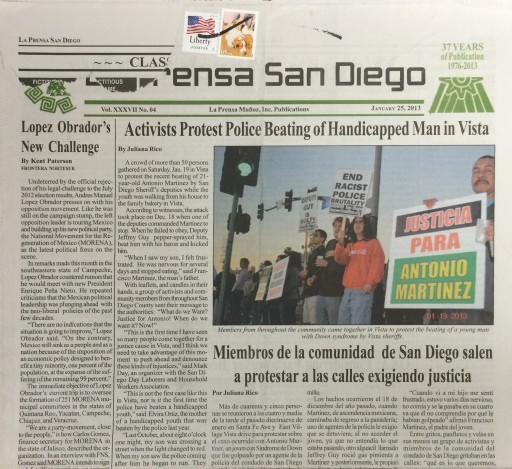 Media Scan for La Prensa - San Diego