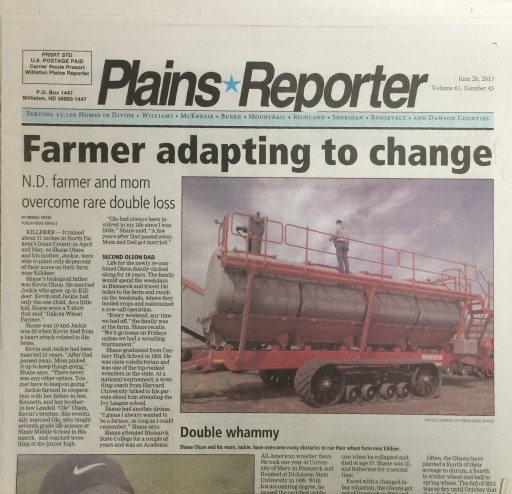 Media Scan for Williston Plains Reporter
