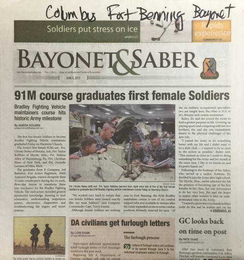 Media Scan for Columbus Fort Benning Bayonet & Saber