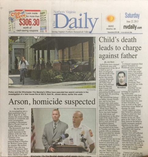 Media Scan for Strasburg Northern Virginia Daily
