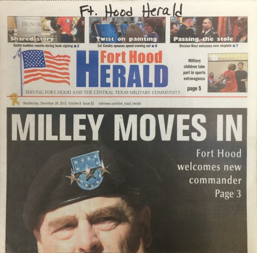 Media Scan for Fort Hood Herald