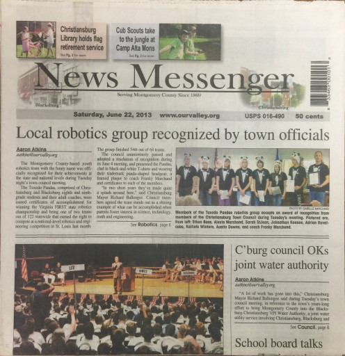 Media Scan for Montgomery County News Messenger