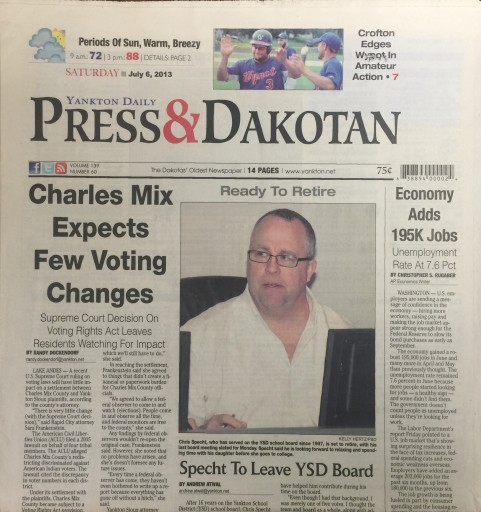 Media Scan for Yankton Daily Press & Dakotan