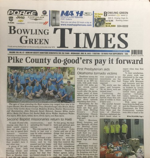 Media Scan for Bowling Green Times