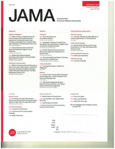 Media Scan for Journal of the American Medical Association