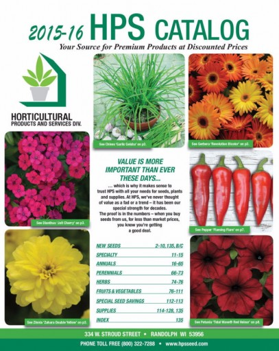Media Scan for Horticultural Product & Services Catalog Blow In